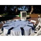 """השכרת שולחן אירוח ל-6 סועדים – 120 ס""""מ עגול"""