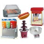 חבילת מכונות מזון לארוע, שילוב נהדר של מכונת נקניקיות, ברד, פופקורן ומכונת סוכר