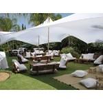 אוהל לייקרה להשכרה 6*10 - צבע לבן