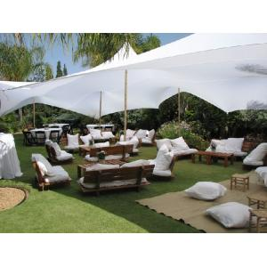 אוהל לייקרה להשכרה 4*6 - צבע לבן