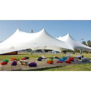 אוהל לייקרה להשכרה 6*12 - צבע לבן